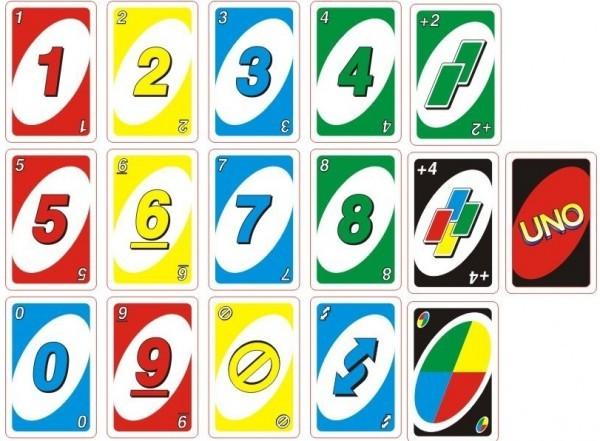 карточки игры уно